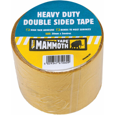 Everbuild 2HDDOUBLE50 Heavy-Duty Double Sided Tape 50mm x 5m
