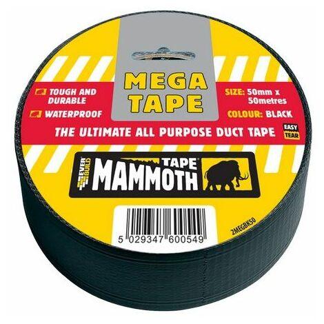 Everbuild 2MEGWE50 Mega All Purpose Tape White 50mm X 50 Metre