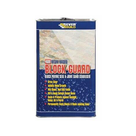 Everbuild 409 Block Guard Block Paving Seal And Joint Sand Stabiliser 5 Litre