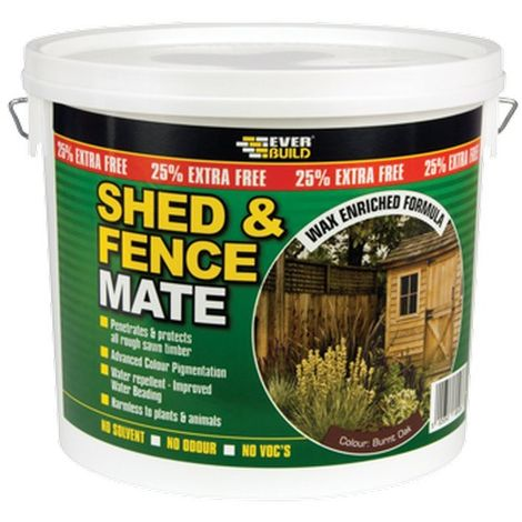 EVERBUILD 5LTR Ebony Black SHED & FENCE MATE Stain Paint