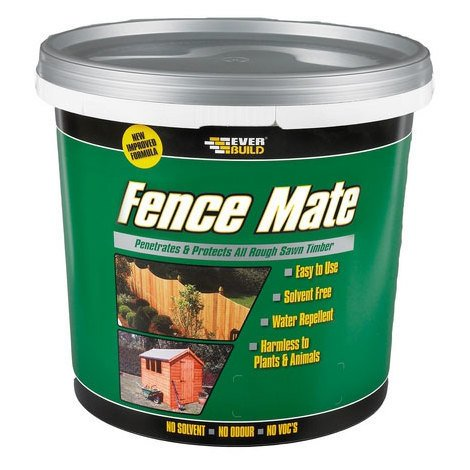 EVERBUILD 5LTR Rustic Red SHED & FENCE MATE Stain Paint