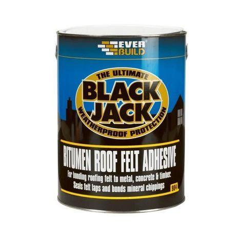 Everbuild 90405 904 Roof Felt Adhesive Black 5 Litre