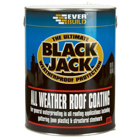 Everbuild 90505 905 All Weather Roof Coating Black 5 Litre