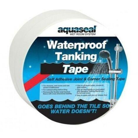 Everbuild Aquaseal Wet Room Kit Joint Corner Tape Waterproof Sealing Tanking 5M