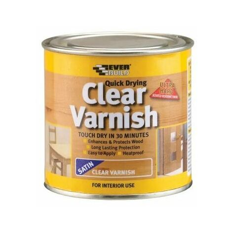 Everbuild Clear Varnish Gloss Finish 250ml