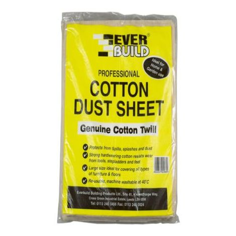 Everbuild Cotton Dust Sheets 12 x 9ft