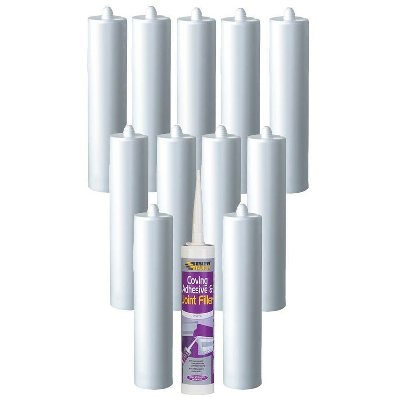Image of Everbuild Coving Adhesive and Joint Filler C3 Size Cartridge Pack of 12