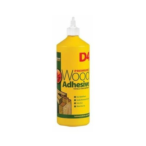 Everbuild D4 Wood Adhesive Solvent Free Industrail Grade 1 Litre