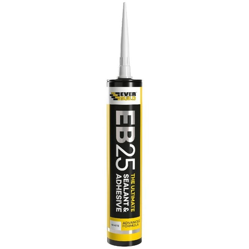 Image of Everbuild EB25 Ultimate Sealant Adhesive White Food Safe Mould Resistant 300ml