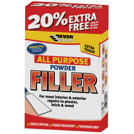 Everbuild EVBFILL450 All Purpose Powder Filler 450g + 30% Free