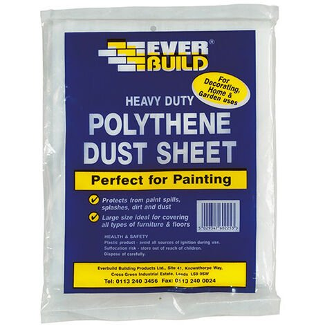 Everbuild EVBPOLYDS129 Polythene Dust Sheet 3.6 x 2.7m