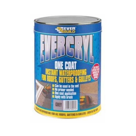Everbuild EVCGY01 Evercryl Grey One Coat 1kg