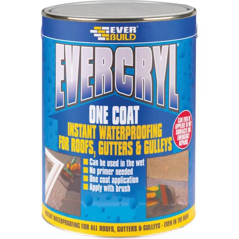 Everbuild EVERCRYL® One Coat White 5kg
