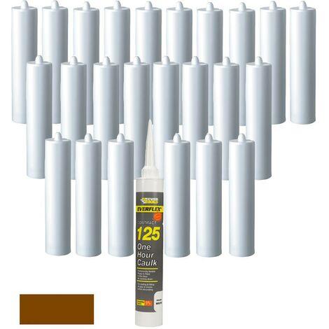 Everbuild Everflex 125 One Hour Decorators Caulk Brown C3 Size Pack of 25