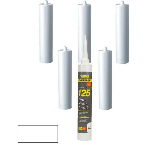 Everbuild Everflex 125 One Hour Decorators Caulk White C3 Size Pack of 6