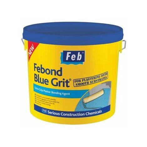 Everbuild FBBLUE10 Febond Blue Grit Plasterers Grip Coat Bonding Agent 10 Litre