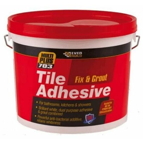 """main image of """"Everbuild FIX10 703 Fix And Grout Tile Adhesive White 16kg"""""""