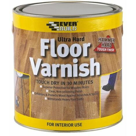 Everbuild FLOORVGL07 Floor Varnish Ultra Hard Clear 750ml