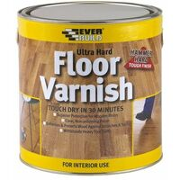 Everbuild FLOORVGL07 Floor Varnish Ultra Hard Clear 750ml