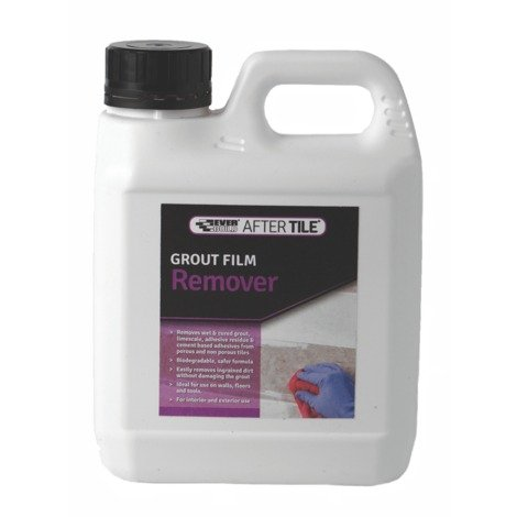 Everbuild Grout Film & Tile Adhesive Remover Remove Wet Cured Limescale