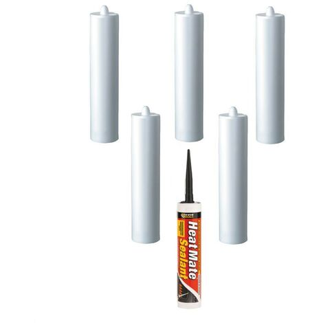 Everbuild Heat Mate Silicone Black C3 Size Cartridge Pack of 6