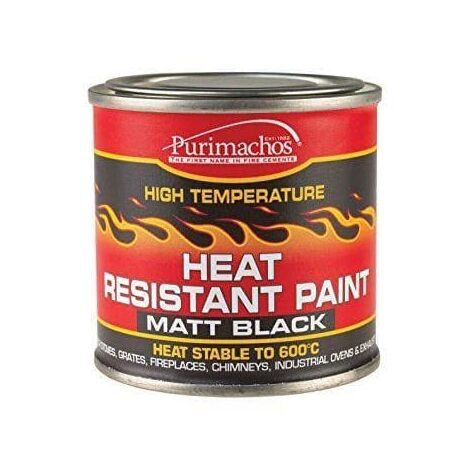 Everbuild Matt Black Heat Resistant Paint 125 ml
