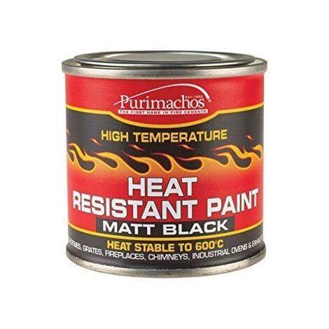 """main image of """"Everbuild Matt Black Heat Resistant Paint 125 ml - Default Title"""""""