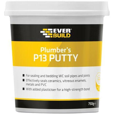 Everbuild Plumbers Sealing Putty 750g Tub Waterproof Non Setting Flexible PLUMB7