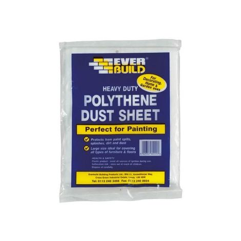Everbuild POLYDUST Polythene Dust Sheets Clear 12' X 9'