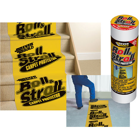 Everbuild ROLL20 Roll & Stroll Premium Carpet Protector 600mm x 25m