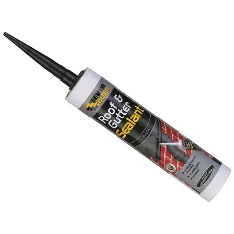 Everbuild Roof And Gutter Sealant Black C3 Tube