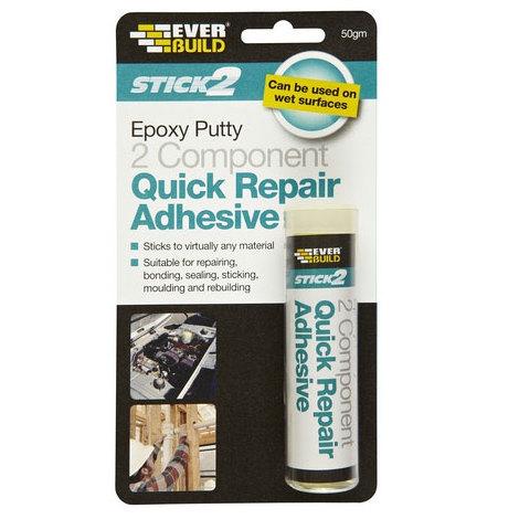 Everbuild Stick 2 Epoxy Putty Quick Repair Adhesive 50 Gram