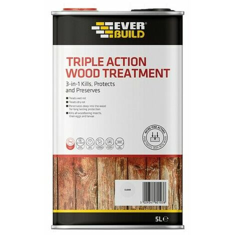 Everbuild Triple Action Wood Treatment 2.5 Litre