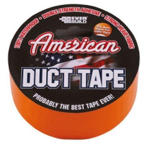 Everbuild USDUCTOG5 American Duct Tape 50mm Orange 5 Metre