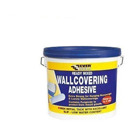 Everbuild WALLRD4 Ready Mixed Wallcovering Adhesive 4.5Kg