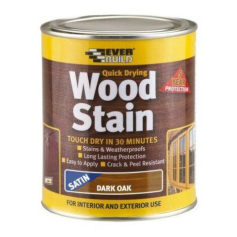 Everbuild WSTAINSDO02 Wood Stain Dark Oak 250ml