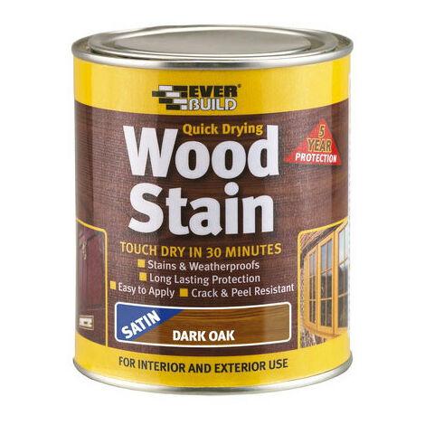 Everbuild WSTAINSDO07 Woodstain Dark Oak 750ml