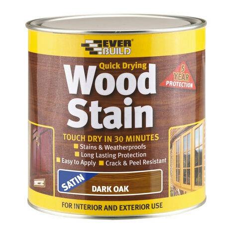 Everbuild WSTAINSDO2 Woodstain Dark Oak 2.5 Litre