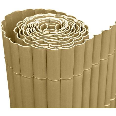 Evergreen Canisse simple face en PVC 3 x h2 m marron clair EG54317