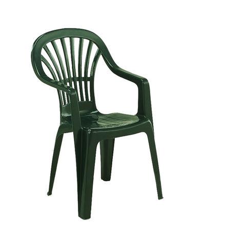 Sedie Da Giardino In Plastica Verdi.Evergreen Poltrona Sedia In Plastica Verde Impilabile Da Esterno Ilenia