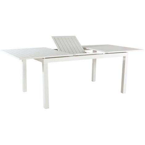 Tavoli Allungabili In Alluminio.Evergreen Tavolo Allungabile L160 210cm In Alluminio Bianco Eg50590