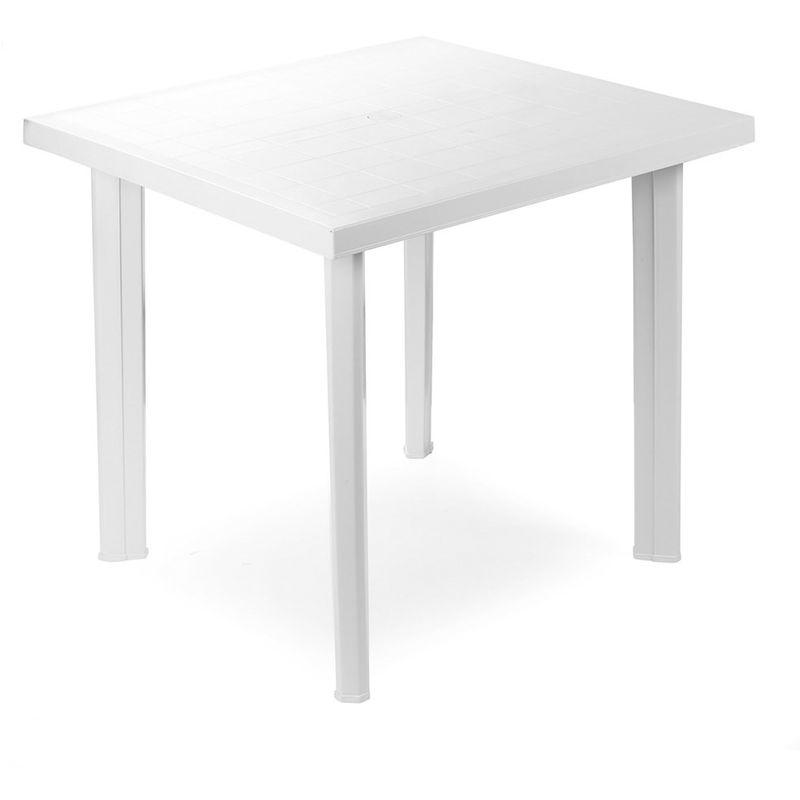 Evergreen Tavolo in resina quadrato bianco EG56327 - 8052789590830