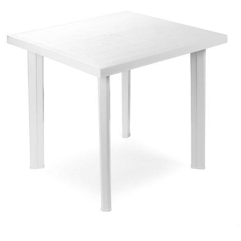 Evergreen Tavolo in resina quadrato bianco EG56327