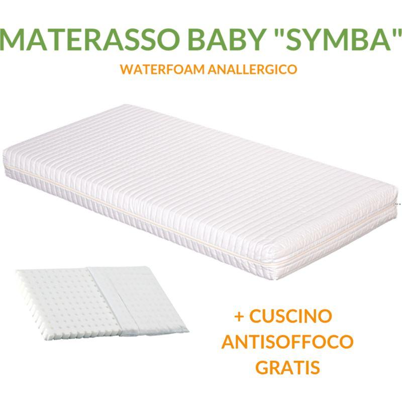 Materasso SYMBA Bambini Sfoderabile Anallergico Lavabile 12cm con Cuscino Gratis