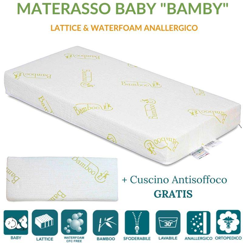 Materasso Antisoffoco Su Misura.Evergreenweb Materasso Lettino O Culla 60x125 In Lattice E