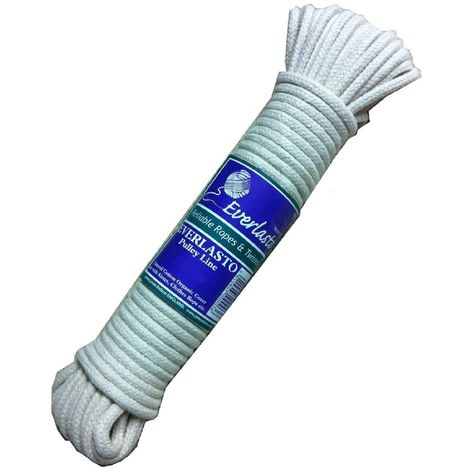Everlasto Natural Cotton Pulley Rope for Clothes Line or Airer - Various Lengths