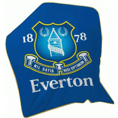 Everton FC Fleece Blanket (One Size) (Blue)