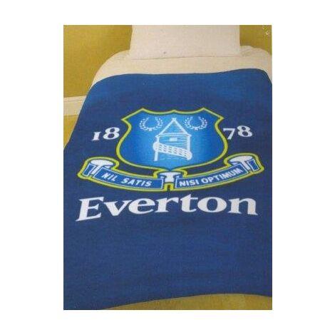 Everton Single bed fleece blanket throwover