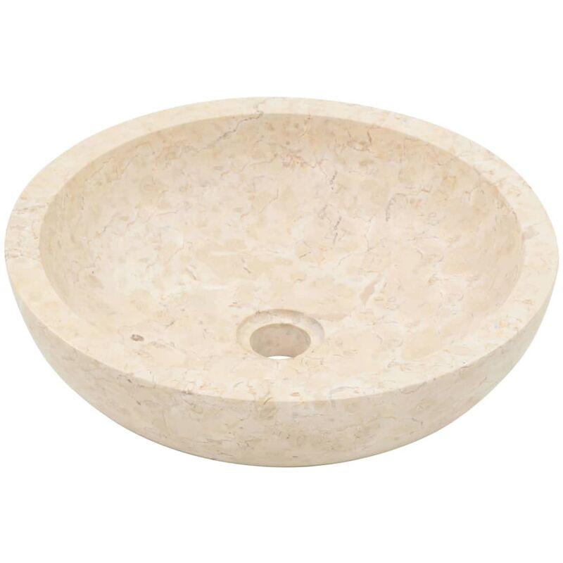 vidaXL Evier Lavabo Lave-Mains Toilette Vasque /à Poser Monter Salle de Bain Int/érieur Salle dEau Maison Rectangulaire 45x30x12 cm Marbre Cr/ème