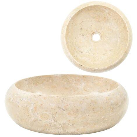 Évier 40 x 12 cm Marbre Crème